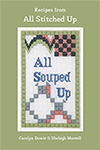 All Souped Up front cover of the Soup Recipe Book from All Stitched Up